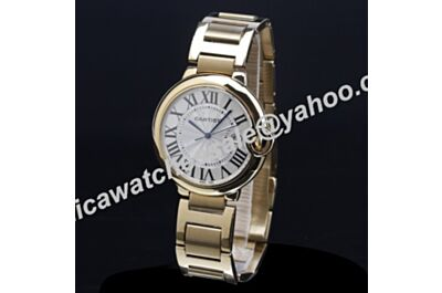 Men's Ballon Bleu de Cartier 18k  Gold W69005Z2 42mm Duplicated Date Watch