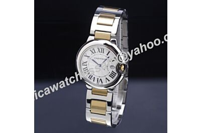 Ballon Bleu de Cartier W2BB0010 Love 29mm White Face 2-Tones Bracelet Watch