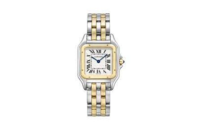 Best PanthèRe De Cartier 18k Gold And Stainless Steel Case/Bracelet Silver-Plated Dial Watch W2PN0007