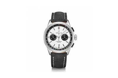 High-end  AB0118221G1X1 Breitling Premier Stainless Steel Case White Dial Minute & Second Counters Date Window Watch