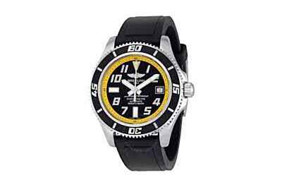 Fake Breitling Superocean Black Dial Yellow Minute Track Arabic Numerals Hour Marker Date Window WatchA1736402.BA32.150S.A18S.1