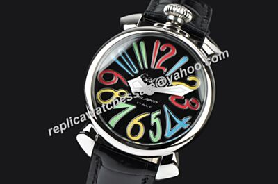 Gaga Milano Manuale  Ladies 48MM Acciaio  Ref. 5010.02S Colorful Markers Quartz Watch