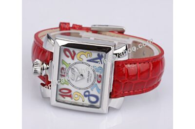 Gaga Milano Napoleone Lady Acciaio  Ref. 6030.2 18k Silver Case Colorful Markers Watch