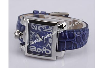 Gaga Milano Napoleone placcato Oro Ref. 6031.4 Quartz Womens White Gold Blue Watch