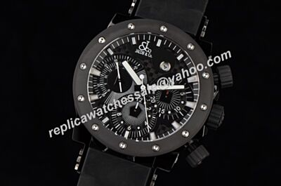 Jacob & CO Epic II Chronograph E2B Limited Edition all Black Luminous Watch Fake GT004