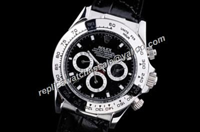 1992 Fake Rolex Black Dial Daytona Winner 24 Auto Choronograph Style Watch