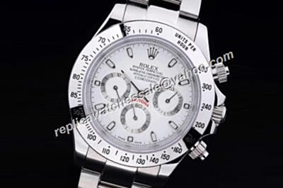 Awesome Rolex 116520-78590 White Gold Daytona Newman White Dial Watch Duplicate