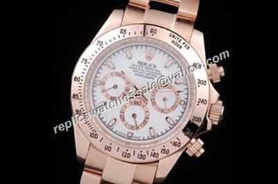 Awesome Rolex 1992 Ref 116505 40mm White Dial Daytona 18kt Rose Gold Watch