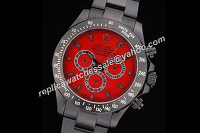 Rolex Daytona Winner 24 1992 Carbon Black Limited Red Dial Watch Rep