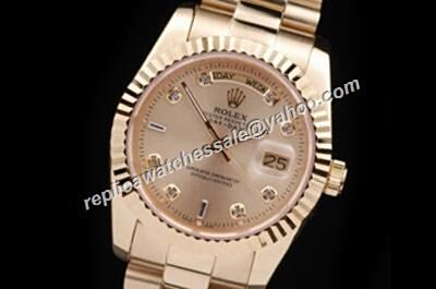 Rolex 218238A Diamond Yellow Gold Day-Date Oyster Fake Automatic Watch