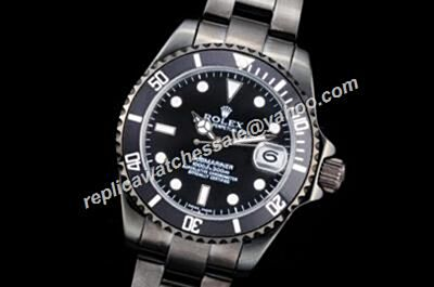 Vintage Rolex Date 16610 All Black Submariner Sporty Nice Review Watch