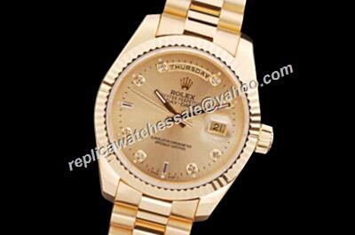 Rolex 118238A-83208 Day-Date Vintage Diamond  Markers Gold  Men's Watch
