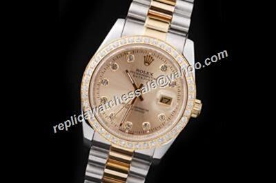 Swiss Replica Rolex Pearlmaster Datejust 116243 Gold Mens Watch