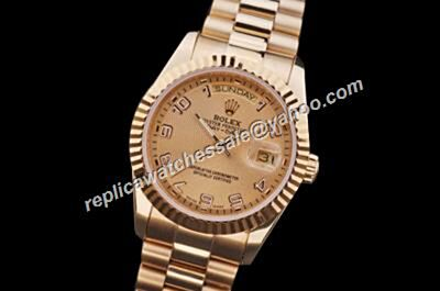 Rolex 36MM Automatic Day-Date All Gold Prix SS Steel Watch