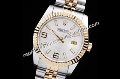 Rolex 36MM Oro Amarillo Date JUST Automatic Movement Crystal Anti-Scratch Watch