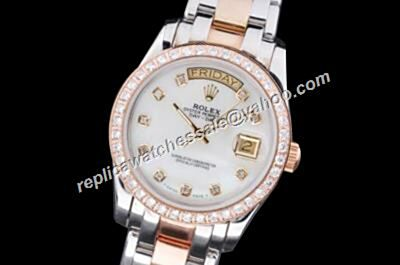 Rolex 18948-72748TRIDOR-8R2B Pearlmaster Diamonds Bezel Automatic Day-Date Watch