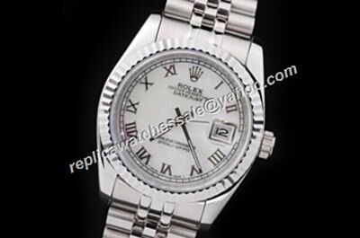 Rolex Swiss Auto Movement Datejust Prezzo Del Mens White Watch