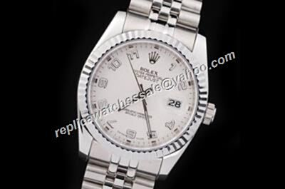 Duplicated Swiss Rolex  Datejust Concentric Circles White Watch USA Copy For Sale