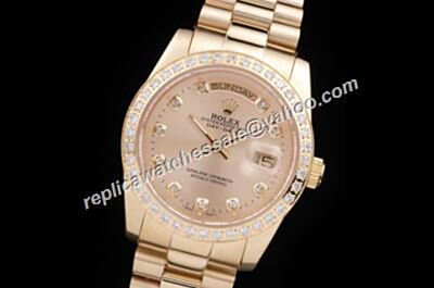 Rolex 218348-83218 Diamonds Pearlmaster Gold Dial President Oyster Day-Date Watch