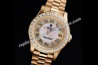 Rolex Cheap Datejust Pearlmaster 81298  Prix Oyster ladies 2-Tone Watch