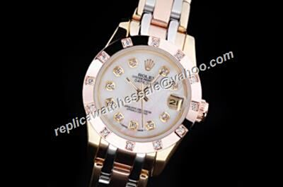Rolex Pearlmaster 28mm Prezzo Del Diamond Datejust multi- Gole Bracelet ladies Watch