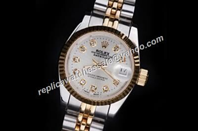 Rolex Datejust Prix 26mm Diamond Markers ladies White Face Watch