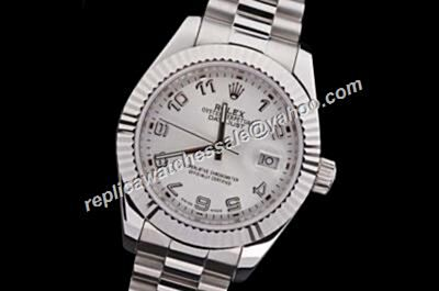 Luxury Rolex Oyster Perpetual Datejust  Silver Faux 40mm Watch USA