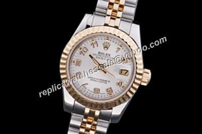 Replica Rolex Datejust Ladies Oyster Perpetual Superlative White Watch