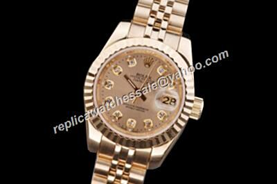 Luxury Rolex Datejust 116238 All Gold Oyster Perpetual Diamond Ladies Watch