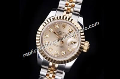 Luxury Rolex Datejust Prix Oyster Perpetual Ladies Diamond Gold Watch