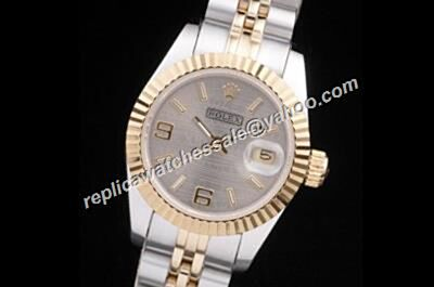 Rolex Datejust Precio 116233 Grey Face Gold Bezel Watch
