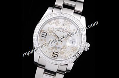 New Couples Rolex 36mm Datejust Floral Motif Pearlmaster Precio Silver Watch