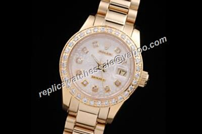 Replica Rolex Diamond Datejust Pearlmaster 116243 ladies London White Watch