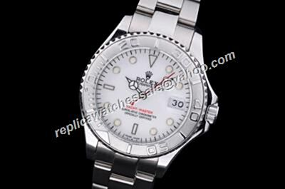 Rolex Oyster 168622-78750 Yacht-master White Gold Red Hand Watch