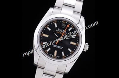 Reliable Performance Swiss Rolex Oyster Milgauss116400GV Black Dial Auto Watch