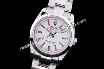 Awesome Rolex Milgauss 116400-72400 Oyster Orange Markers & Lightning Hand Watch