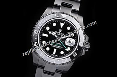 Extravagant Swiss Made Rolex GMT-Master II All Black  40MM Steel Date Watch