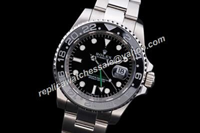Professional Rolex Ceramic GMT-Master II Date Green Hand Ss Bracelet Watch