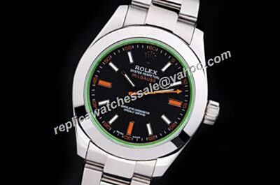 Stylish Brilliant Rolex 18kt Silver Steel Milgauss Black Auto 2-Tone Markers Watch