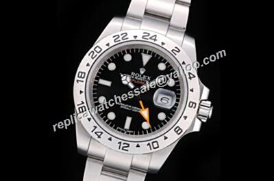 Rolex Explorer II Swiss Made 216570-77210 Orange Hand Black Watch