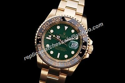 Stylish Brilliant Rolex Gmt Master Ii Gold Automatic Oyster Date Green Date Watch