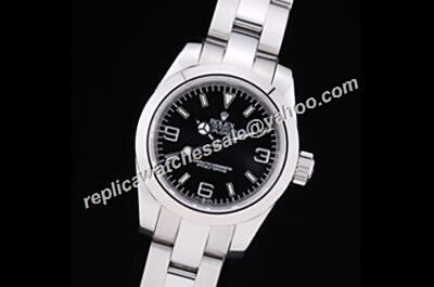 Swiss Rolex Black Dial 214270-77200  Stainless Steel Explorer Watch