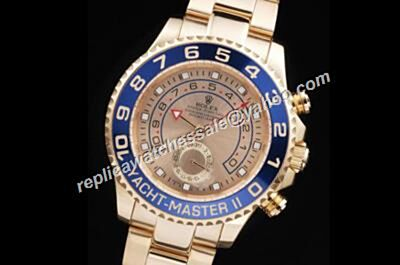 Rolex Yachtmaster Ii Stainless Steel 42mm Gold Wristlet Watch