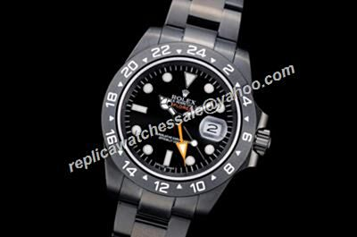 Rolex Oyster Explorer Ii Automatic Pro-Hunter Design All Black Watch RExpII006