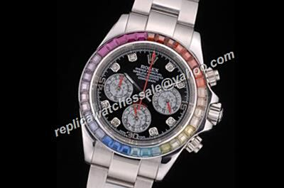 Rolex Daytona winner 24th 1992 Cosmograph Rainbow Crystals Bezel Watch