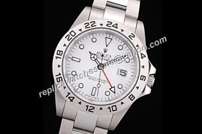 Rolex Explorer Ii 16570 S/S 40mm Scrambled Serial Auto White 24-Hour Watch