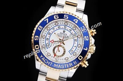 Rolex 116681-78211 18k White Gold Yachtmaster II Blue Faux Watch