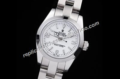 Rolex Explorer I  Automatic  Steel White Ladies Steel Bracelet Watch