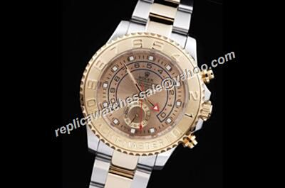 Rolex Yacht-Master II Gold Dial Mens Steel Automatic Movement Watch