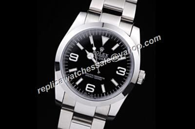 2017 Rolex Explorer I New Steel Automatic Black Vintage Watch